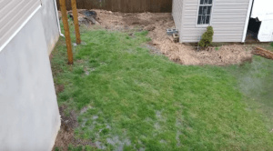 pond water in yard due to incorrect water drainage system