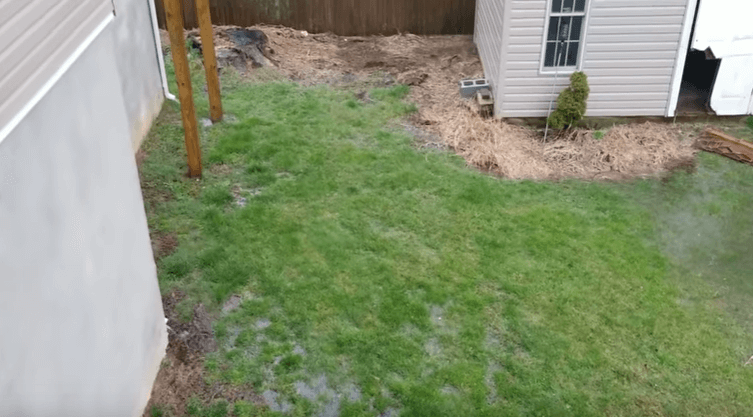 Suwanee water in yard due to incorrect water drainage system