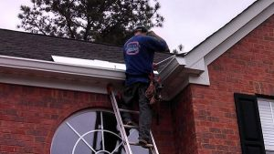 new gutter system installation for waterproofing